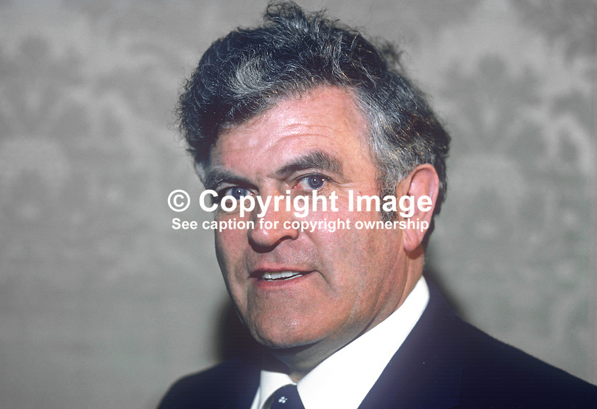 Paddy Power, TD, Fianna Fail, Minister for Defence, Rep of Ireland, 1982030037PP1..Copyright Image from Victor Patterson, 54 Dorchester Park, Belfast, UK, BT9 6RJ..Tel: +44 28 9066 1296.Mob: +44 7802 353836.Voicemail +44 20 8816 7153.Skype: victorpattersonbelfast.Email: victorpatterson@me.com.Email: victorpatterson@ireland.com (back-up)..IMPORTANT: If you wish to use this image or any other of my images please go to www.victorpatterson.com and click on the Terms & Conditions. Then contact me by email or phone with the reference number(s) of the image(s) concerned.