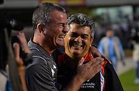 SÃO PAULO, SP, 23 DE MARÇO DE 2013 - CAMPEONATO PAULISTA - SÃO PAULO x BRAGANTINO: Nei Franco (d) e Mazola Junior (e) durante partida São Paulo x Bragantino, válida pela 14ª rodada do Campeonato Paulista de 2013, disputada no estádio do Morumbi em São Paulo. FOTO: LEVI BIANCO - BRAZIL PHOTO PRESS.