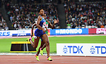 Phyllis FRANCIS (USA) leads Kabange MUPOPO (ZAM) in the womens 400m semi-final. IAAF world athletics championships. London Olympic stadium. Queen Elizabeth Olympic park. Stratford. London. UK. 07/08/2017. ~ MANDATORY CREDIT Garry Bowden/SIPPA - NO UNAUTHORISED USE - +44 7837 394578