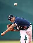 Reno Aces&rsquo; Anthony Banda pitches against the Oklahoma City Dodgers at Greater Nevada Field in Reno, Nev., on Sunday, July 17, 2016.<br />Photo by Cathleen Allison
