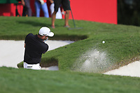 Corey Conners (CAN) on the 18th green during the final round of the WGC HSBC Champions, Sheshan Golf Club, Shanghai, China. 03/11/2019.<br /> Picture Fran Caffrey / Golffile.ie<br /> <br /> All photo usage must carry mandatory copyright credit (© Golffile | Fran Caffrey)