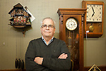 THOMASTON,  CT-122916JS03-- Dave Barberet, owner of Barberet Jewelers in Thomaston, is one of the few area people who still repair clocks. <br /> Jim Shannon Republican-American