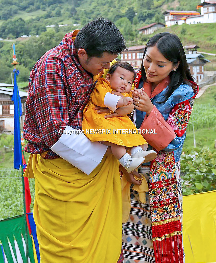 15.06.2016; Dungkhar, Bhutan: KING WANGCHUCK, QUEEN JETSUN AND PRINCE JIGME<br />visit Dungkhar, the ancestral home of the Wangchuck Dynasty on the birth anniversary of Guru Rinpoche.<br />Mandatory Credit Photo: &copy;Royal Palace/NEWSPIX INTERNATIONAL<br /><br />(Failure to credit will incur a surcharge of 100% of reproduction fees)<br />IMMEDIATE CONFIRMATION OF USAGE REQUIRED:<br />Newspix International, 31 Chinnery Hill, Bishop's Stortford, ENGLAND CM23 3PS<br />Tel:+441279 324672  ; Fax: +441279656877<br />Mobile:  07775681153<br />e-mail: info@newspixinternational.co.uk<br />Please refer to usage terms. All Fees Payable To Newspix International