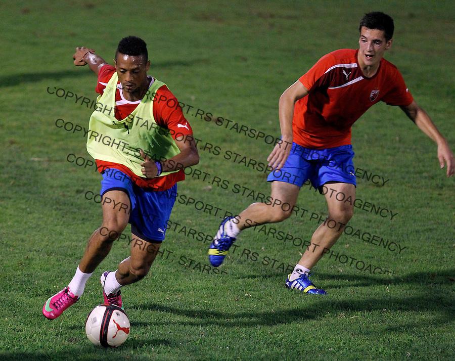 Fudbal <br /> Crvena Zvezda<br /> Practice session<br /> Omega Roberts and Vukan Savicevic<br /> Beograd, 29.07.2013.<br /> foto: Srdjan Stevanovic/Starsportphoto &copy;