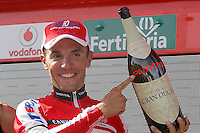 Joaquin Purito Rodriguez celebrates the victory in the stage of La Vuelta 2012 between Palas de Rei and Puerto de Ancares.September 1,2012. (ALTERPHOTOS/Paola Otero) NortePhoto.com<br /> <br /> **CREDITO*OBLIGATORIO** <br /> *No*Venta*A*Terceros*<br /> *No*Sale*So*third*<br /> *** No*Se*Permite*Hacer*Archivo**<br /> *No*Sale*So*third*