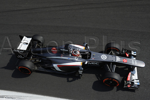 07.09.2013. Monza, Lombardy, Italy. F1 grand prix of Italy. Qualification day.  THIRD IN QUALIFICATION, GERMAN NICO HULKENBERG of SAUBER C32.