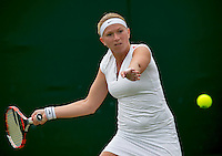 London, England, 4th July, 2016, Tennis, Wimbledon, Michaella Krajicek (NED)<br /> Photo: Henk Koster/tennisimages.com