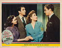 Mrs. Miniver (1942) <br /> Lobby card with Greer Garson, Walter Pidgeon, Teresa Wright &amp; Richard Ney<br /> *Filmstill - Editorial Use Only*<br /> CAP/MFS<br /> Image supplied by Capital Pictures