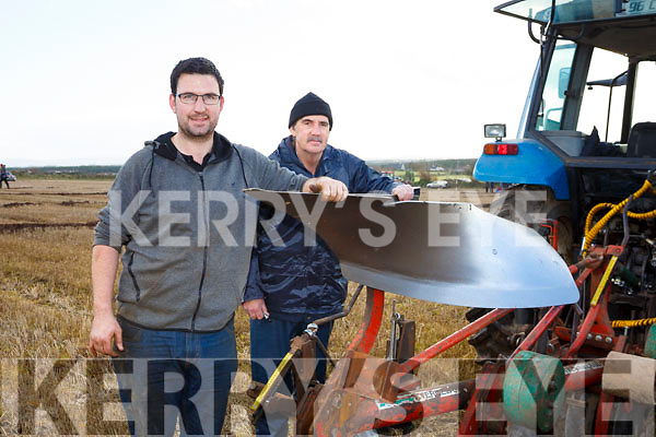 Colm Dineen and Liam Dineen at the Ballyheigue's ploughing match at  the Rectory field, Buncurrig on Sunday