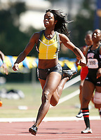Tianna Madison ran 11.54sec. in the 100m dash on Friday, April 11, 2008 at the Rafer Johnson/Jackie Joyner-Kersee Inv. held at Drake Stadium-UCLA. Photo by Errol Anderson, TheSporting Image.