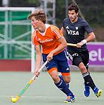 DEN HAAG - Jorrit Croon  tijdens  de trainingswedstrijd hockey Nederland-Argentinie (1-2). COPYRIGHT KOEN SUYK