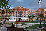 The Greene plaza on summer evening. Beavercreek Ohio