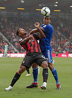Bournemouth's Joshua King (left) battles with Cardiff City's Lee Peltier (right) <br /> <br /> Photographer David Horton/CameraSport<br /> <br /> The Premier League - Bournemouth v Cardiff City - Saturday August 11th 2018 - Vitality Stadium - Bournemouth<br /> <br /> World Copyright &copy; 2018 CameraSport. All rights reserved. 43 Linden Ave. Countesthorpe. Leicester. England. LE8 5PG - Tel: +44 (0) 116 277 4147 - admin@camerasport.com - www.camerasport.com
