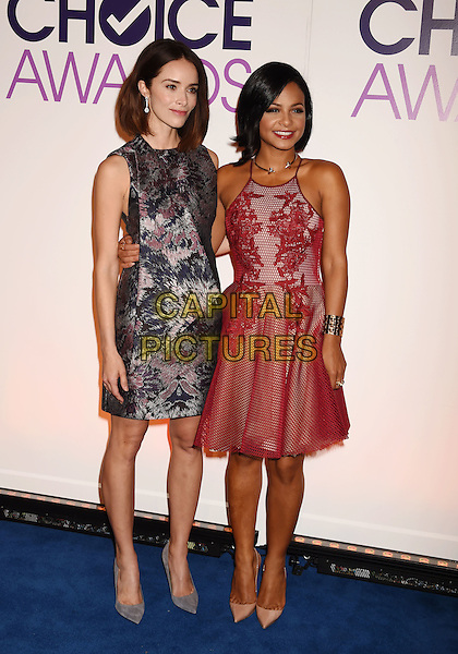 BEVERLY HILLS, CA - NOVEMBER 03: Actress Abigail Spencer (L) and singer/actress Christina Milian attend the People's Choice Awards 2016 - Nominations Press Conference at The Paley Center for Media on November 3, 2015 in Beverly Hills, California.<br /> CAP/ROT/TM<br /> &copy;TM/ROT/Capital Pictures