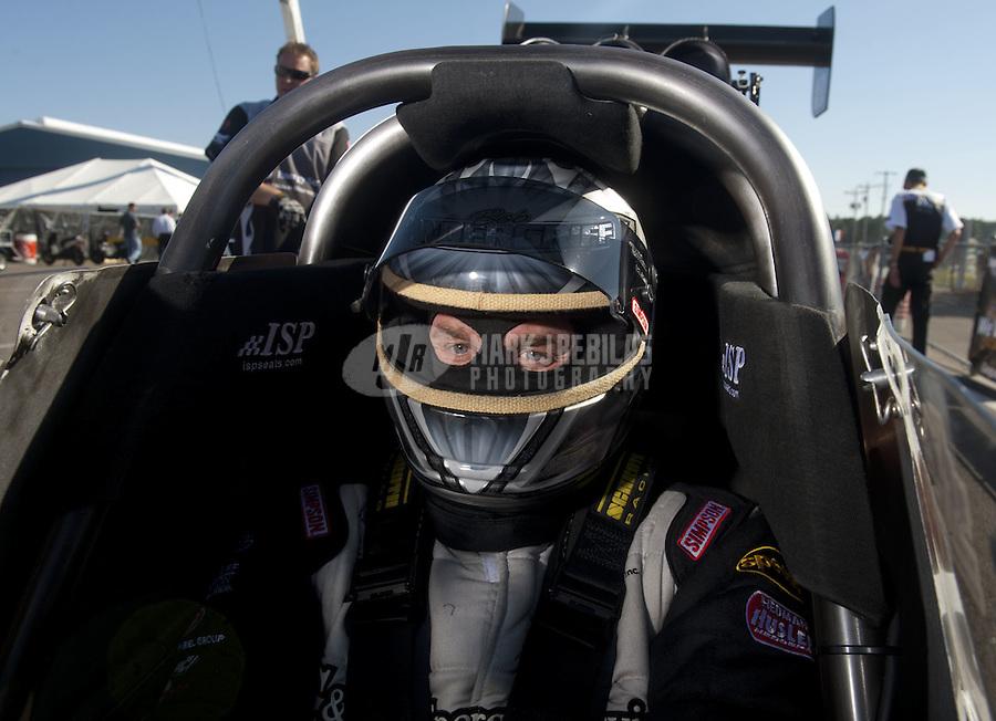 Mar. 12, 2011; Gainesville, FL, USA; NHRA top fuel dragster driver Bob Vandergriff Jr during qualifying for the Gatornationals at Gainesville Raceway. Mandatory Credit: Mark J. Rebilas-.