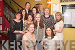 Theresa McGrath, London, pictured with Clare Duffy, Marie Nlan, Breda Fennessy, Claire Langan, Philomena Langan, Vickie McGrath, Karina O'Meara, Marie Wintergill, Eimear O'Donovnan and Caroline Reidy as she celebrated her hen Party in Lord Kenmares, Killarney on Saturday night.