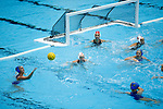 INDIANAPOLIS, IN - MAY 14: Maddie Musselman (7) of UCLA passes the ball during the Division I Women's Water Polo Championship held at the IU Natatorium-IUPUI Campus on May 14, 2017 in Indianapolis, Indiana. Stanford edges UCLA, 8-7, to win fifth women's water polo title in the past seven years. (Photo by Joe Robbins/NCAA Photos/NCAA Photos via Getty Images)