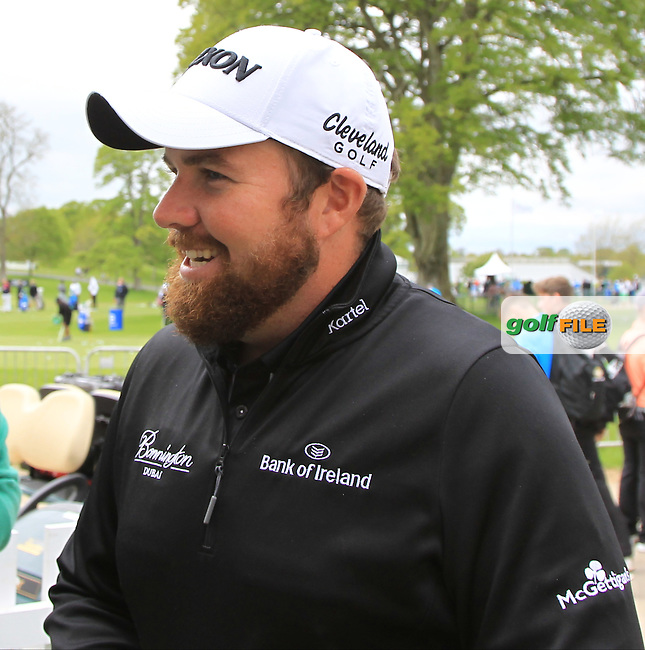 Shane Lowry (IRL) at the media centre during Tuesday's Practice round of the Dubai Duty Free Irish Open Trophy at The K Club, Straffan, Co. Kildare<br /> Picture: Golffile | Thos Caffrey<br /> <br /> All photo usage must carry mandatory copyright credit <br /> (&copy; Golffile | Thos Caffrey)