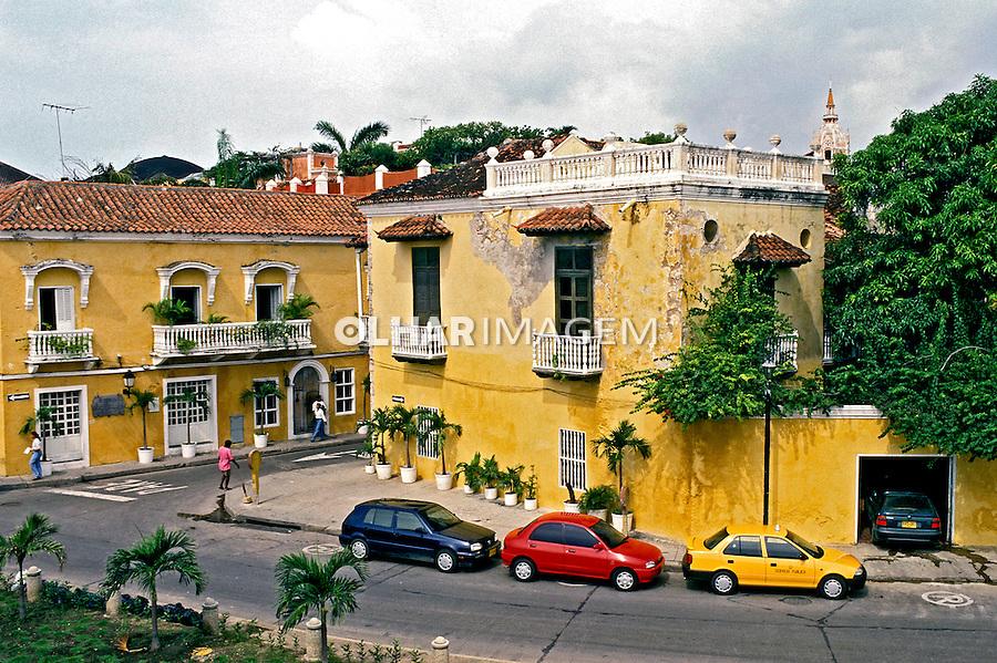 Arquitetura barroca em Cartagena. Colombia. 2001. Foto de Ricardo Azoury.