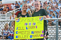 Piscataway, NJ - Saturday Aug. 27, 2016: Sky Blue fans prior to a regular season National Women's Soccer League (NWSL) match between Sky Blue FC and the Chicago Red Stars at Yurcak Field.