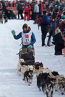Musher # 13 Ryan Redington at the Restart of the 2009 Iditarod in Willow Alaska