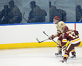 Edwin Shea (BC - 8), Mike Seidel (Duluth - 17) - The Boston College Eagles defeated the University of Minnesota Duluth Bulldogs 4-0 to win the NCAA Northeast Regional on Sunday, March 25, 2012, at the DCU Center in Worcester, Massachusetts.