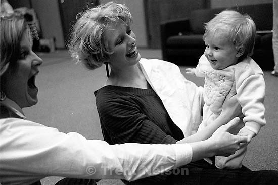 Sue Quayle, Jill Bischoff, Heather Bischoff at Ted Quayle's 80th birthday party.<br />