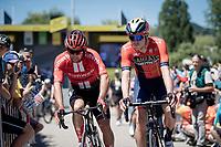 2 fellow Aussies at the race start in Saint-Dié-des-Vosges: Michael Matthews (AUS/Sunweb) & Rohan Dennis (AUS/Bahrein-Merida)<br /> <br /> Stage 5: Saint-Dié-des-Vosges to Colmar(175km)<br /> 106th Tour de France 2019 (2.UWT)<br /> <br /> ©kramon