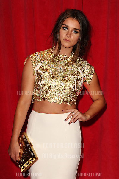 Brooke Vincent arriving for the 2014 British Soap Awards, at the Hackney Empire, London. 24/05/2014 Picture by: Steve Vas / Featureflash