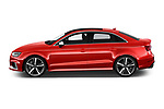 Car Driver side profile view of a 2019 Audi RS-3 - 4 Door Sedan Side View