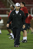 """9 February 2007: Andy Buh during a """"Friday Night Lights"""" practice at Stanford Stadium in Stanford, CA."""