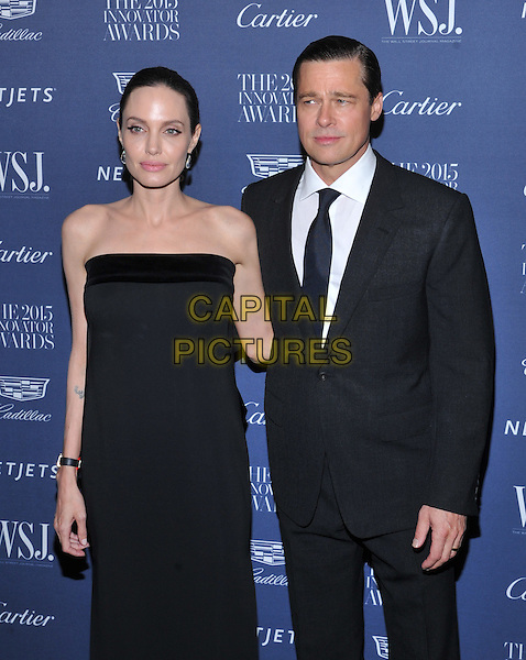 New York,NY-November 4: Angelina Jolie Pitt, Brad Pitt  attend the WSJ. Magazine 2015 Innovator Awards at the Museum of Modern Art on November 4, 2015 in New York City. <br /> CAP/MPI/STV<br /> &copy;STV/MPI/Capital Pictures