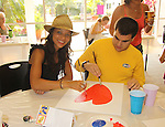 All My Children Denise Vasi paints with Billy at the Painting Party on May 15, 2011 on Marco Island, Florida - SWSL Soapfest Charity Weekend May 14 & !5, 2011 benefitting several children's charities including the Eimerman Center providing educational & outreach services for children for autism. see www.autismspeaks.org. (Photo by Sue Coflin/Max Photos)