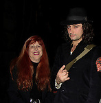 Broadway's Rock of Ages starring Bold and The Beautiful Constantine Maroulis poses with Jane Elissa at the Helen Hayes Theatre, NYC, NY on December 17, 2014 while attending The Jane Elissa Extravaganza 2014 - 19 years - benefiting the Jane Elissa/Charlotte Meyer Endowment Fund which raises revenue that directly supports the research  of the Leukemia/Lymphoma Society. The grant goes to an individual researcher. (Photo by Sue Coflin/Max Photos)