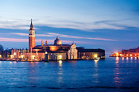Canal of San Marco and the basilica of San Giorgio Maggiore built between 1566 and 1610, Venice, Italy