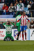 17.01.2013 SPAIN - Copa del Rey Matchday 1/2th  match played between Atletico de Madrid vs Real Betis Balompie (2-0) at Vicente Calderon stadium. The picture show  Diego Godin (Uruguayan defender of At. Madrid)