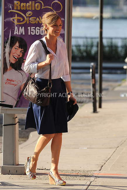 "WWW.ACEPIXS.COM . . . . . ....July 1 2009, New York City....Actress Hilary Swank on the set of the new movie ""The Resident"" in Brooklyn on July 1 2009 in New York City....Please byline: KRISTIN CALLAHAN - ACEPIXS.COM.. . . . . . ..Ace Pictures, Inc:  ..tel: (212) 243 8787 or (646) 769 0430..e-mail: info@acepixs.com..web: http://www.acepixs.com"