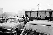 Moscow, Russia<br /> October 22, 1992<br /> <br /> The parking lot of Kievski train station. <br /> <br /> In December 1991, food shortages in central Russia had prompted food rationing in the Moscow area for the first time since World War II. Amid steady collapse, Soviet President Gorbachev and his government continued to oppose rapid market reforms like Yavlinsky's &quot;500 Days&quot; program. To break Gorbachev's opposition, Yeltsin decided to disband the USSR in accordance with the Treaty of the Union of 1922 and thereby remove Gorbachev and the Soviet government from power. The step was also enthusiastically supported by the governments of Ukraine and Belarus, which were parties of the Treaty of 1922 along with Russia.<br /> <br /> On December 21, 1991, representatives of all member republics except Georgia signed the Alma-Ata Protocol, in which they confirmed the dissolution of the Union. That same day, all former-Soviet republics agreed to join the CIS, with the exception of the three Baltic States.