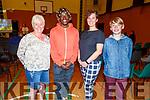 Rita O'Sullivan Crean, Methembe Mafu, Gosia Szczodrowska and Peter Szczodrowski attending the Public Forum for Tralee Town  in the KDYS on Monday evening.