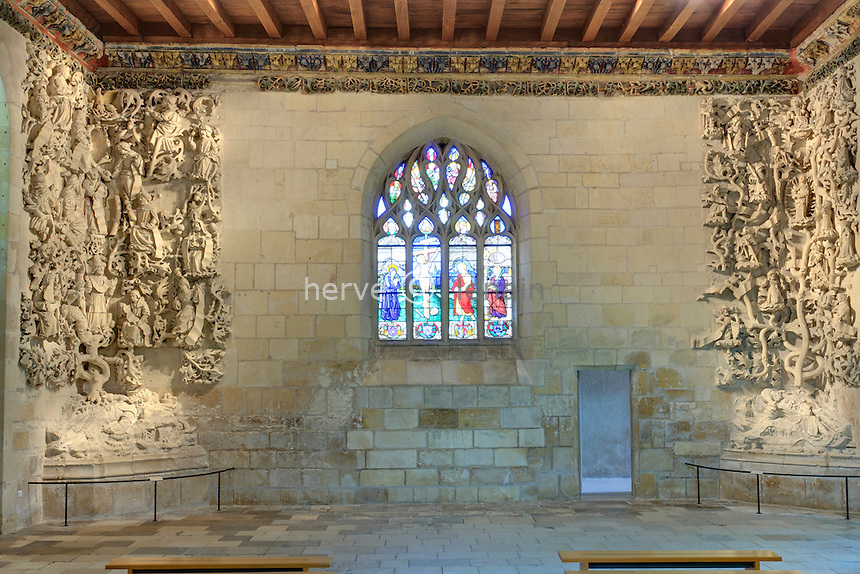 France, Indre (36), Issoudun, Le musée de l'Hospice Saint-Roch, arbre de Jessé du XVe siècle dans la chapelle // France, Indre, Issoudun, Museum of the Hospice Saint Roch, Tree of Jesse in the chapel