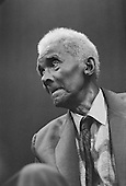 CLR James, Trinidad-born historian, journalist, socialist theorist and author of the Black Jacobins.  Institute of Contemporary Arts, London.