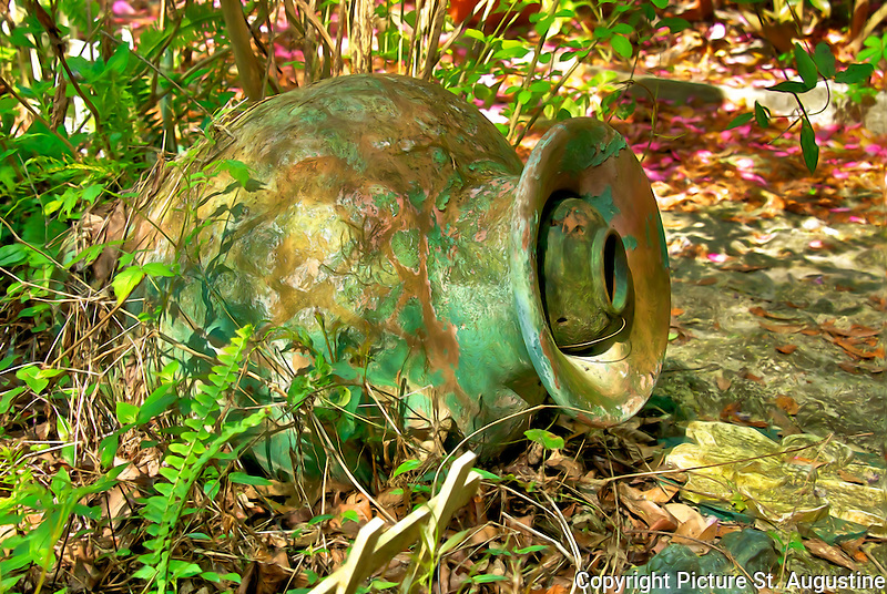 Old clay pot in St. Augustine, Florida