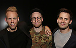 Justin Paul, Matt Gould and Benj Pasek attend The Dramatists Guild Foundation Salon with Matt Gould on March 12, 2018 at StellarTower in New York City.