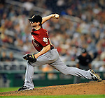 12 July 2008: Houston Astros' pitcher Chris Sampson in action against the Washington Nationals at Nationals Park in Washington, DC. The Astros defeated the Nationals 6-4 in the second game of their 3-game series...Mandatory Photo Credit: Ed Wolfstein Photo