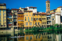 Sculling on the River Arno, Florence, Italy