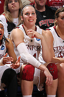 STANFORD, CA - MARCH 20:  Kayla Pedersen during Stanford's 79-47 win over UC Riverside in the NCAA Women's Basketball  Tournament First Round at the Maples Pavilion on March 20, 2010 in Stanford, California.