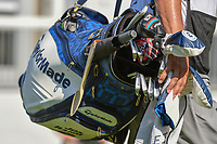 A wooden spoon is attached to Jon Rahm's (ESP) bag as he heads down 17 during 3rd round of the World Golf Championships - Bridgestone Invitational, at the Firestone Country Club, Akron, Ohio. 8/4/2018.<br /> Picture: Golffile | Ken Murray<br /> <br /> <br /> All photo usage must carry mandatory copyright credit (© Golffile | Ken Murray)