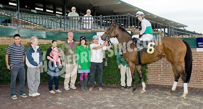 Safe Crossing winning at Delaware Park on 10/18/12
