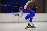 SCHAATSEN: DEVENTER: IJsbaan De Scheg, 27-10-12, IJsselcup, winnaar 1000m Lucas van Alphen, ©foto Martin de Jong