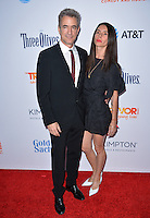 BEVERLY HILLS, CA. December 4, 2016: Dermot Mulroney &amp; wife Tharita Cesaroni  at the 2016 TrevorLIVE LA Gala at the Beverly Hilton Hotel.<br /> Picture: Paul Smith/Featureflash/SilverHub 0208 004 5359/ 07711 972644 Editors@silverhubmedia.com